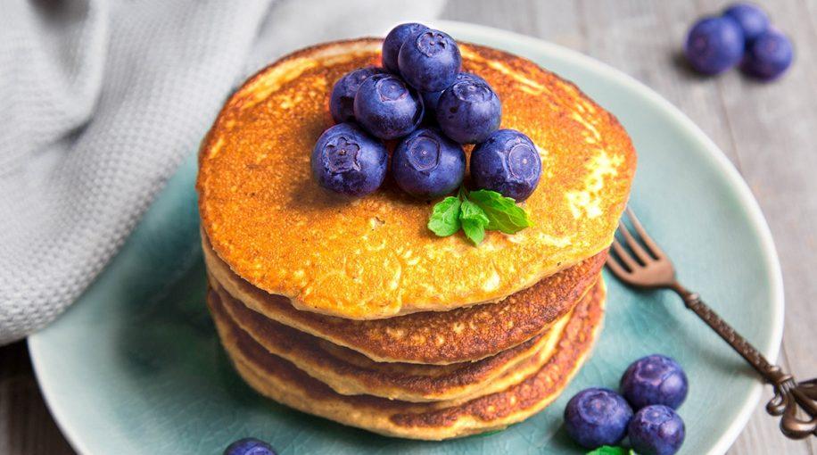 pancake_whey protein mit blaubeeren